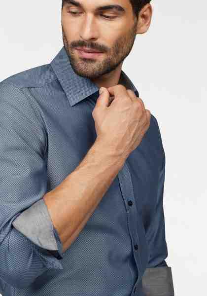 OLYMP Businesshemd »Level Five body fit«, Strukturmuster mit edlem Glanz
