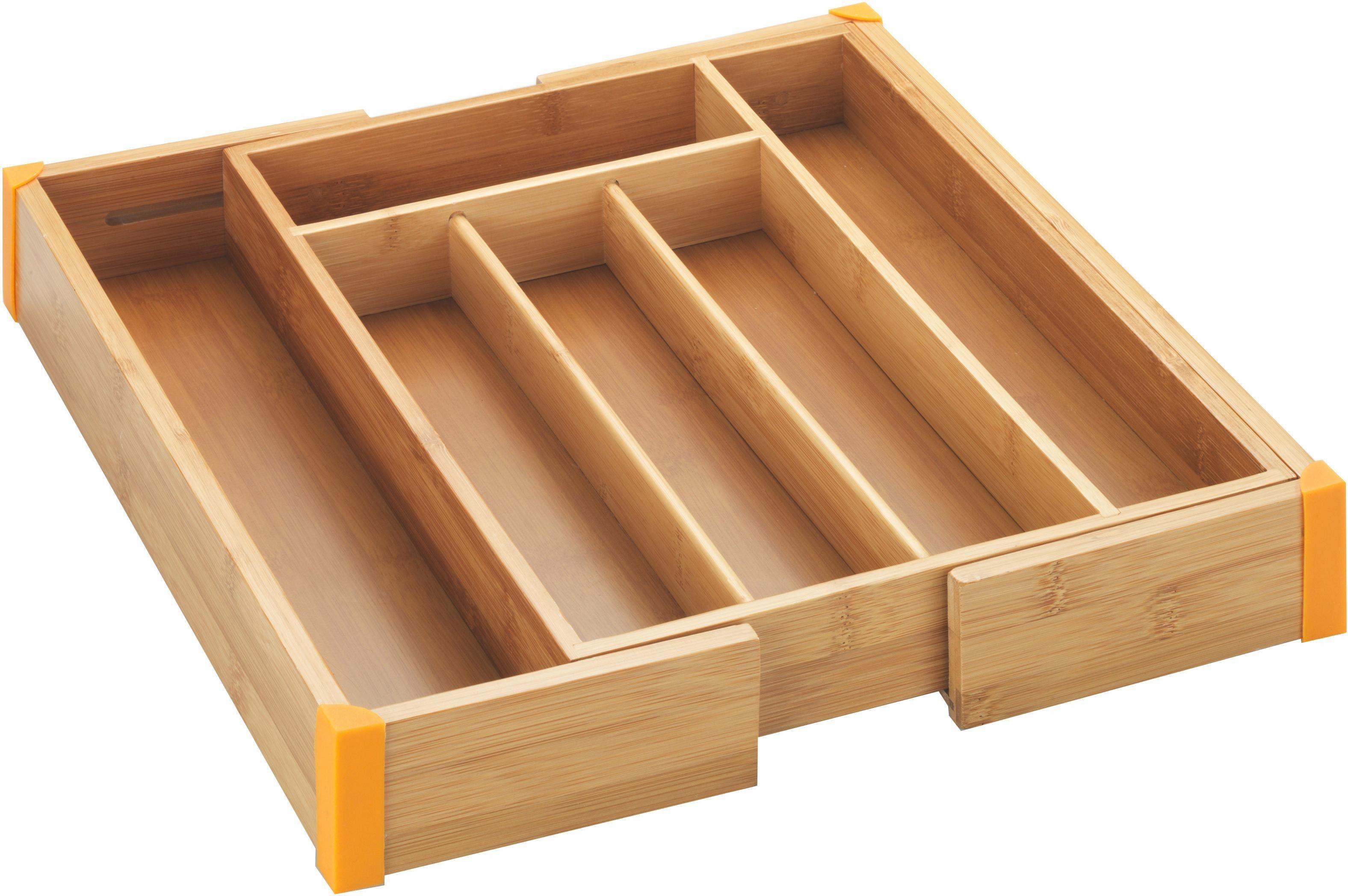 Wenko Besteckkasten, ausziehbar, »Bambus«