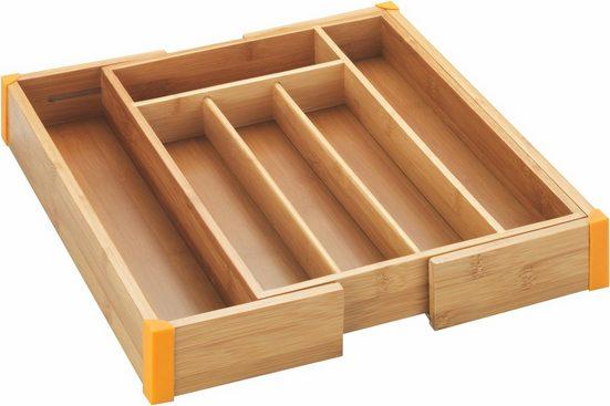 WENKO Besteckkasten »Bambus«, ausziehbar