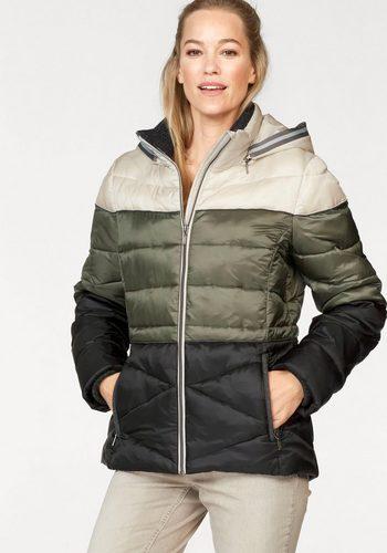 Damen Danwear Winterjacke in neuer Optik, colorblocking grün | 05710289571034