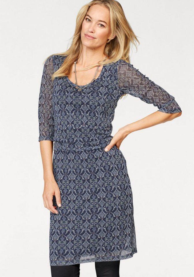 d0f6e8410555e3 Boysen's Jerseykleid Mesh-Qualität mit Taillen-Drapierung online ...