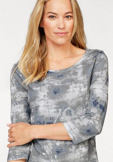 Boysen's Rundhalsshirt, mit silberglänzenden Druckdetails