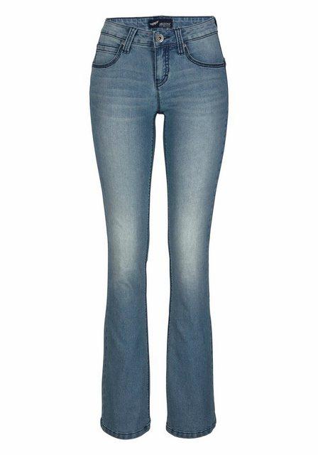 Hosen - Arizona Bootcut Jeans »Shaping« Mid Waist › blau  - Onlineshop OTTO