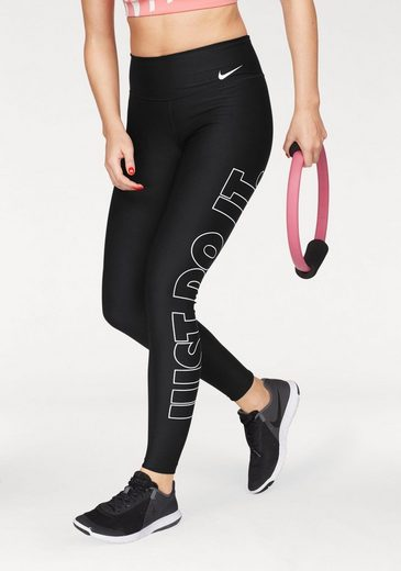 Nike Funktionstights W NIKE POWER TIGHT POLY JUST DO IT GRX