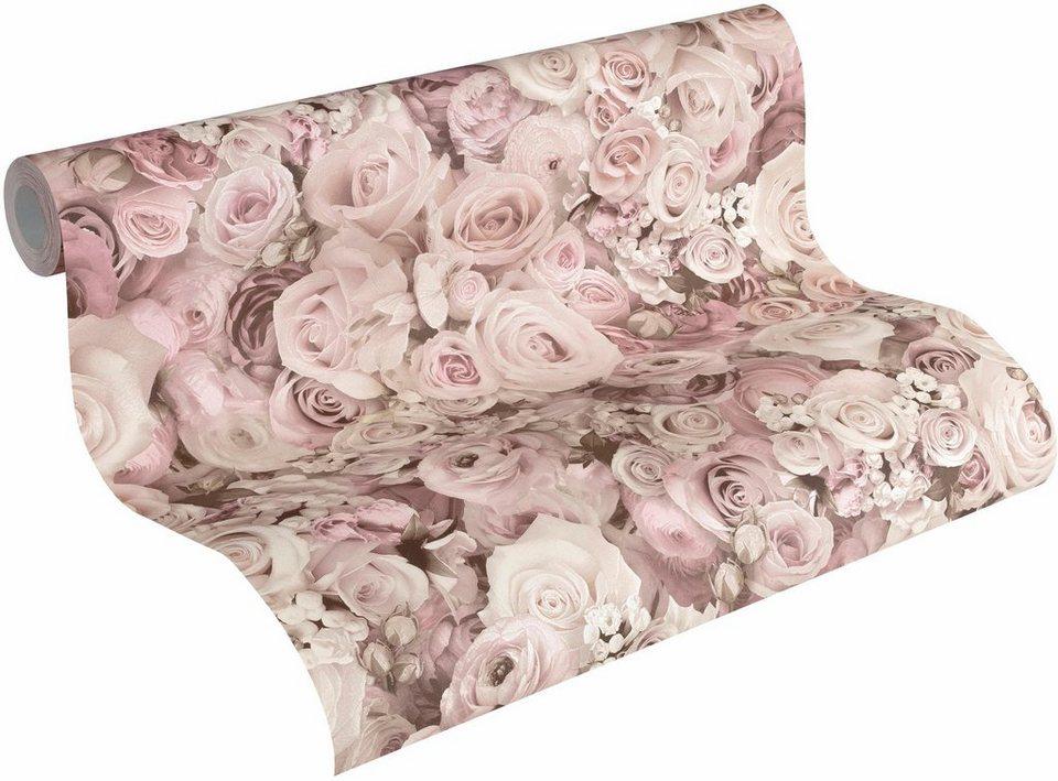 vliestapete livingwalls urban flowers 32722 floral online kaufen otto. Black Bedroom Furniture Sets. Home Design Ideas