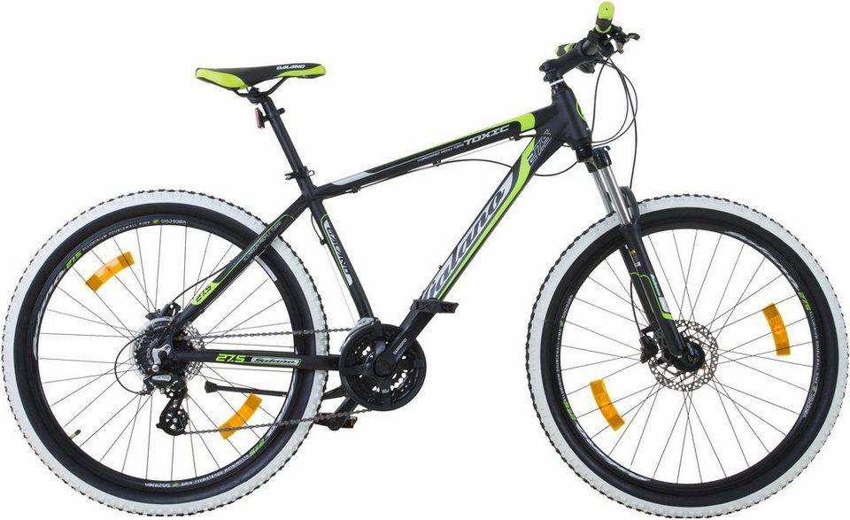 Galano Mountainbike »Toxic«, 24 Gang Shimano Altus M310 Schaltwerk ...