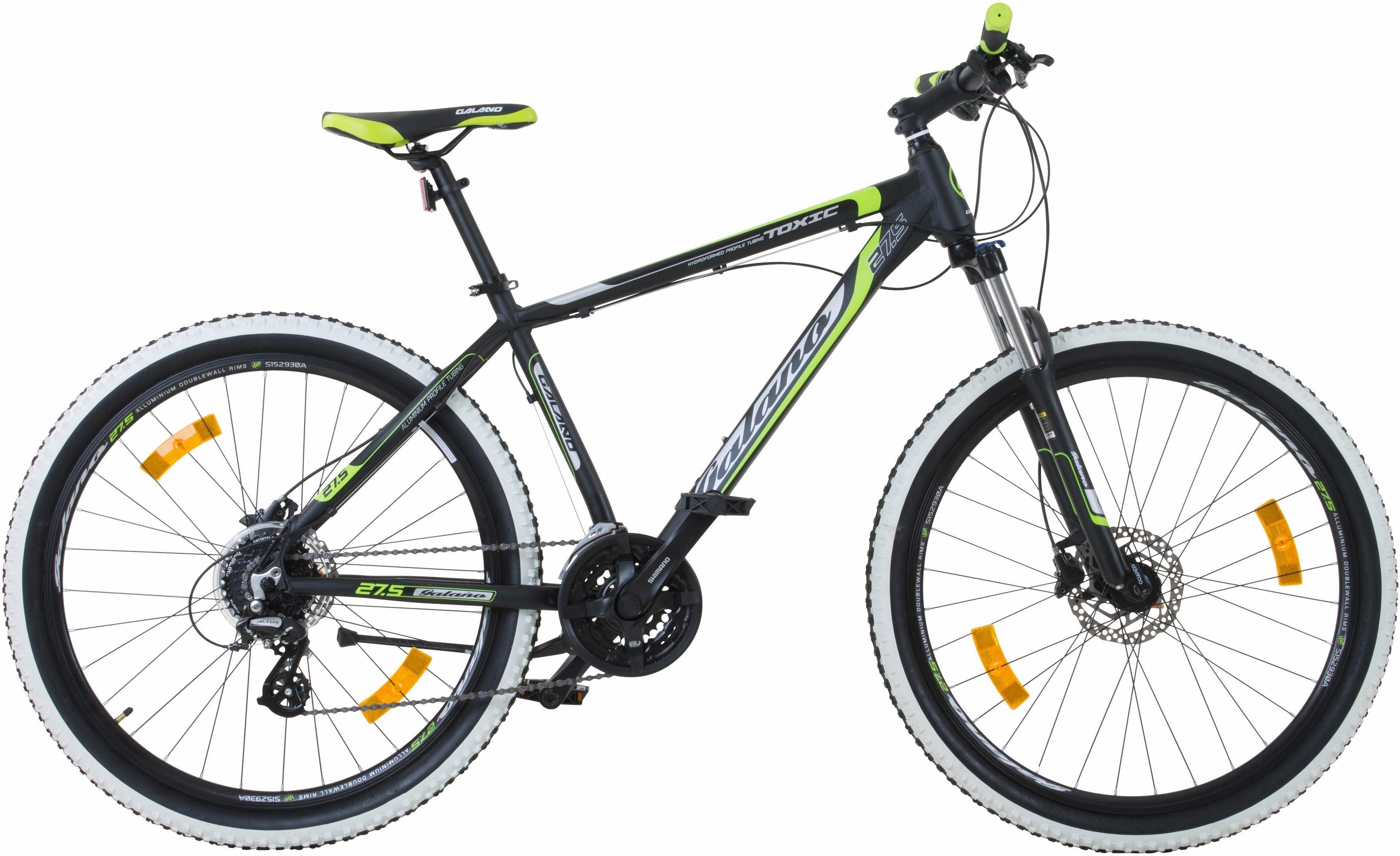 Galano Mountainbike »Toxic«, 24 Gang Shimano Altus M310 Schaltwerk, Kettenschaltung