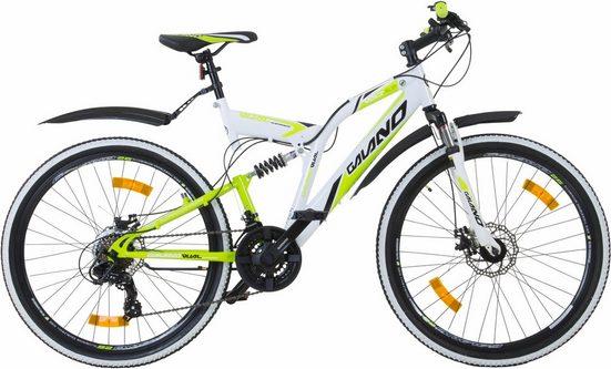 Galano Mountainbike »Volt DS«, 21 Gang Shimano Tourney Schaltwerk, Kettenschaltung