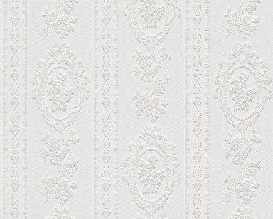 Schaumtapete »Belle Epoque 1861«, floral, gestreift, FSC®