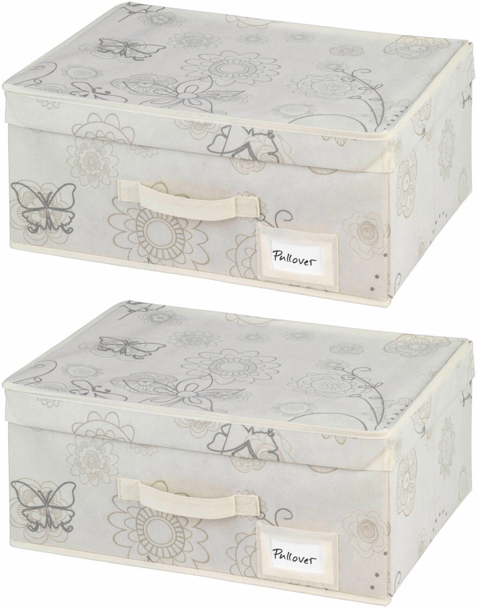 Wenko Aufbewahrungsbox, 2er Set, »Butterfly«
