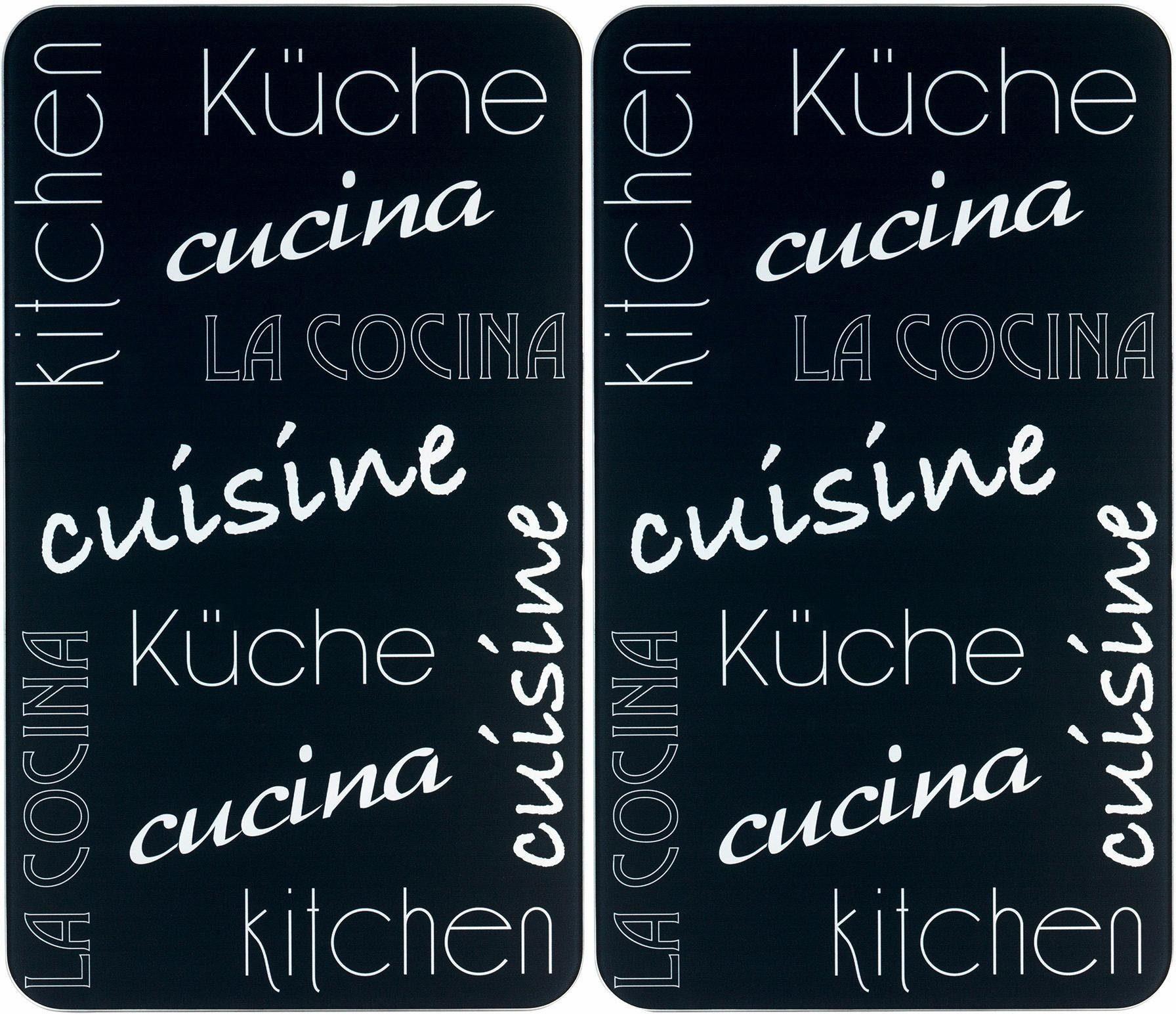 Wenko Herd-Abdeckplatte, 2er Set, 30 x 52 cm, »Küche International«
