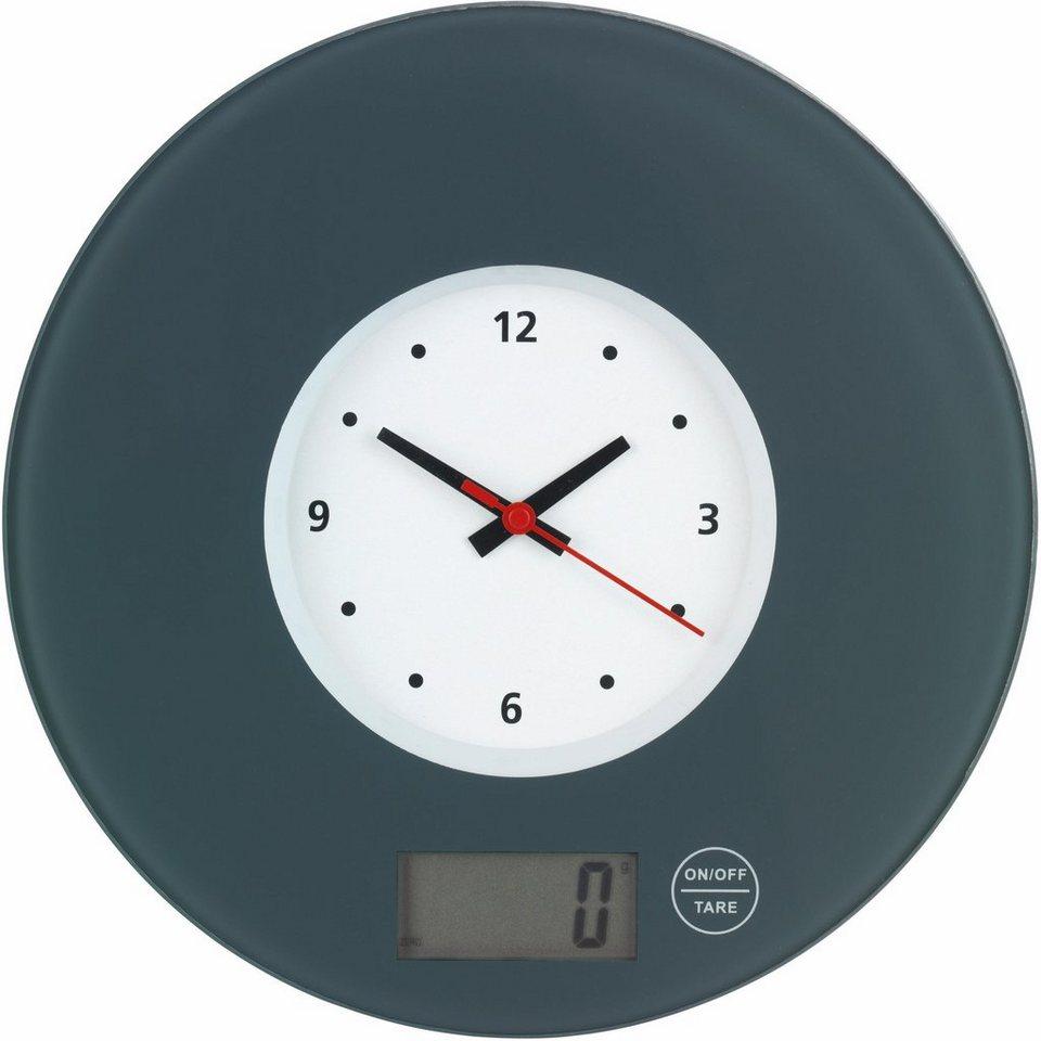 wenko k chenwaage mit uhr lcd anzeige touch bedienung time online kaufen otto. Black Bedroom Furniture Sets. Home Design Ideas
