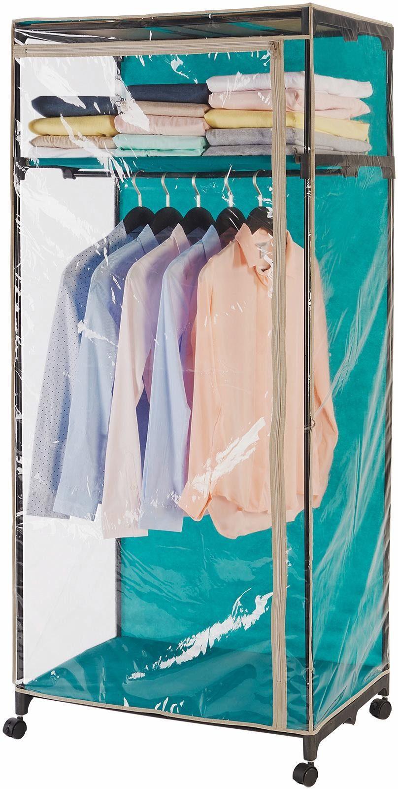Wenko Kleiderschrank, Transparent, mit Ablage, »Breeze«
