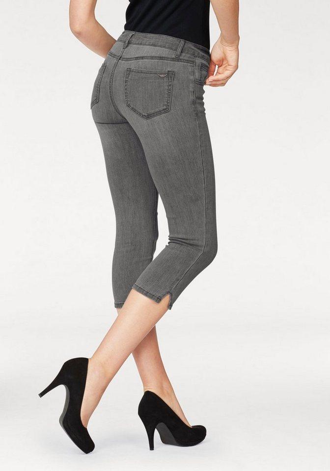 Arizona Caprijeans »Ultra-Stretch« Mid-Waist | Bekleidung > Jeans > Caprijeans | Grau | Denim | Arizona