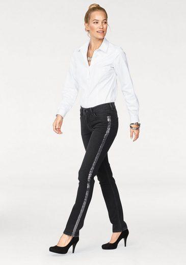 MAC Gerade Jeans Carrie Pipe Galon, Galonstreifen in den Seitennähten