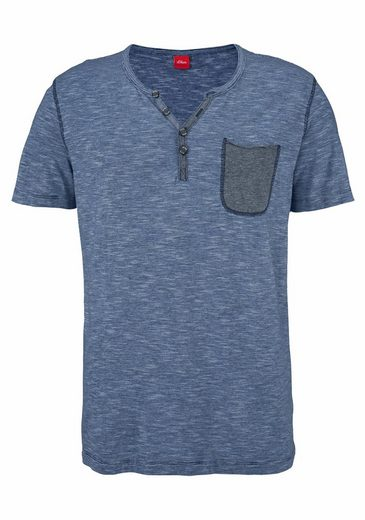S.oliver Red Label Henley Shirt With Button Tape