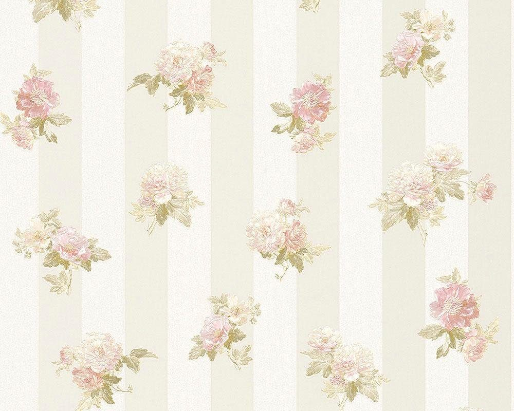 Vliestapete »Romantica 3 30447«, floral, FSC®, RAL-Gütezeichen