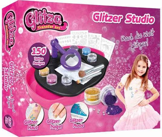 Knorrtoys® Kreativset »GLITZA Design Studio«, (Set), Verwendbar auf fast alle glatte Oberflächen