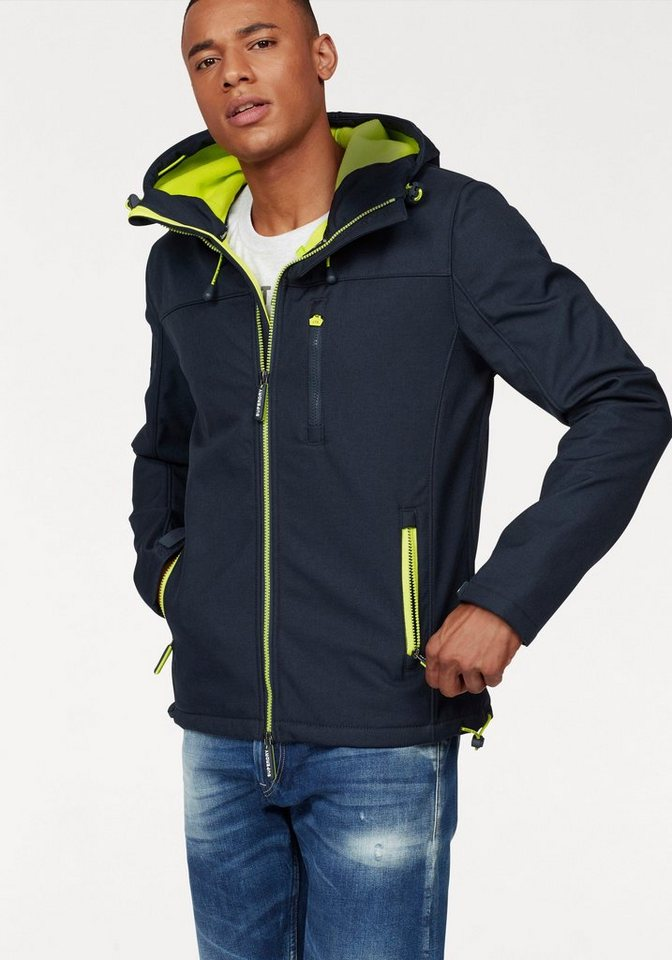 superdry softshelljacke hooded windtrekker midnight. Black Bedroom Furniture Sets. Home Design Ideas