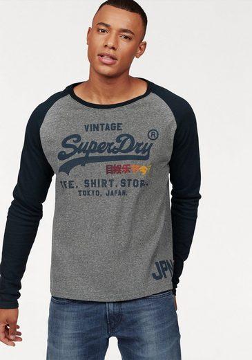 Superdry Langarmshirt SHIRT SHOP SURF RAGLAN L/S TEE