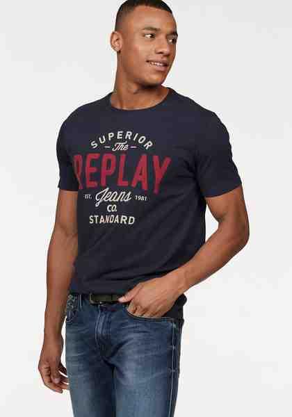 Replay T-Shirt mit Markenprint