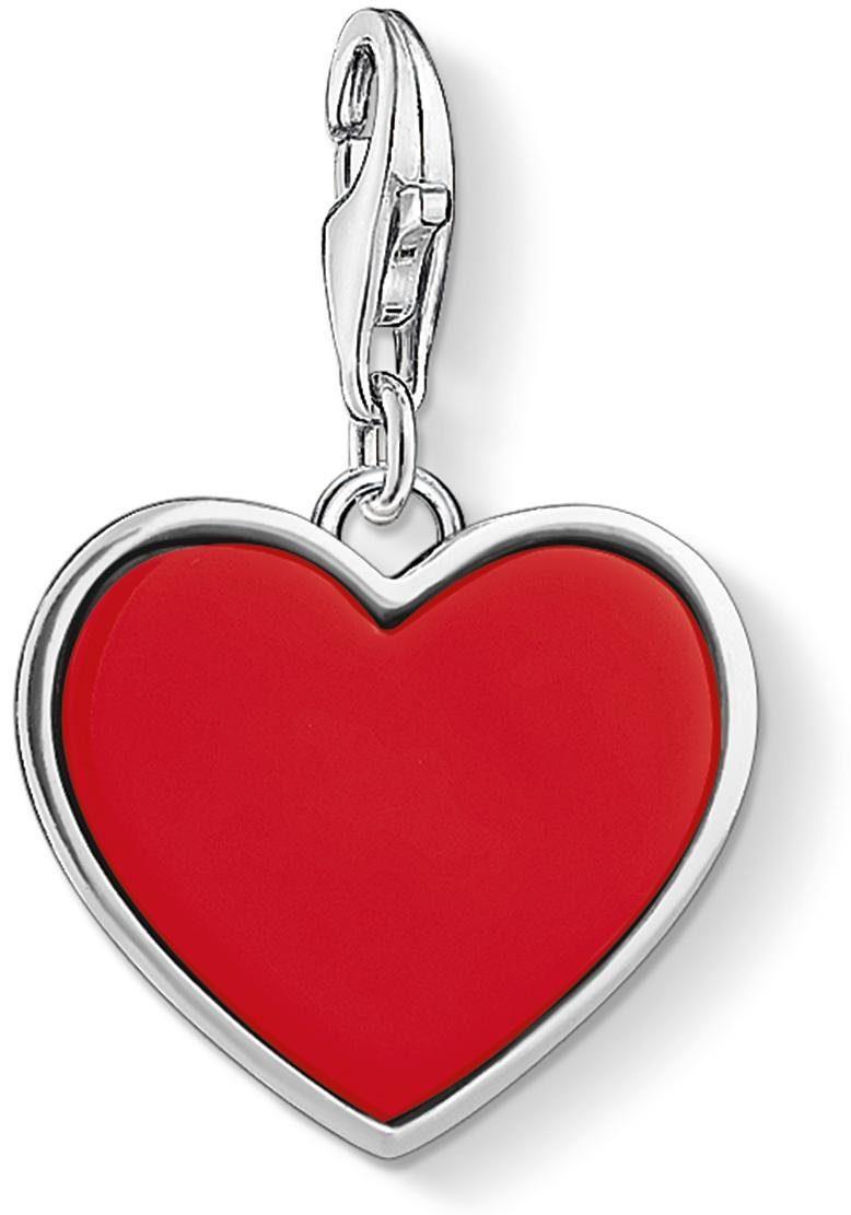 THOMAS SABO Charm-Einhänger »Rotes Herz, 1471-337-10« imit. Koralle