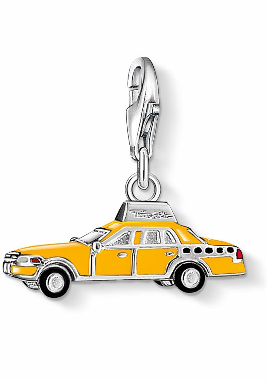 THOMAS SABO Charm-Einhänger »Gelbes Taxi, 1067-007-4«