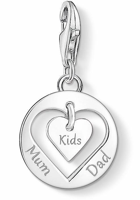 THOMAS SABO Charm-Einhänger »Herz MUM, DAD, KIDS, 1460-001-21«