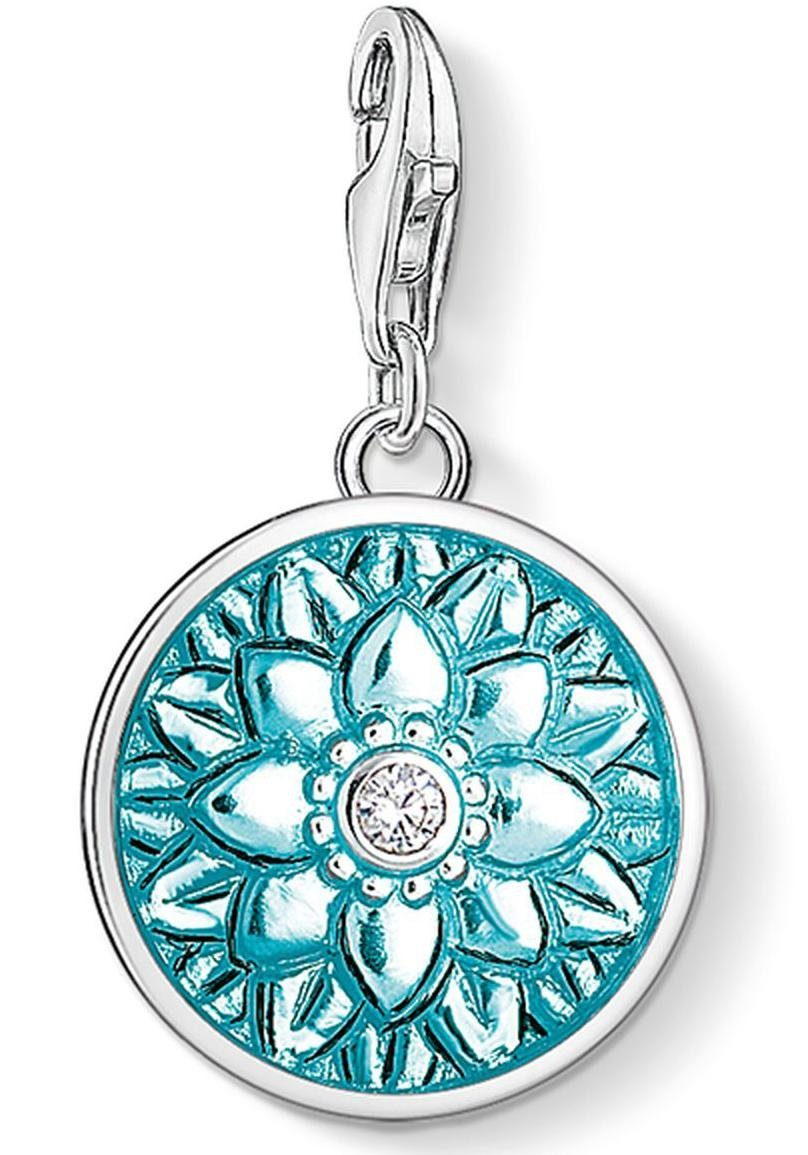 THOMAS SABO Charm-Einhänger »Blütenornament, 1447-041-17« mit Zirkonia