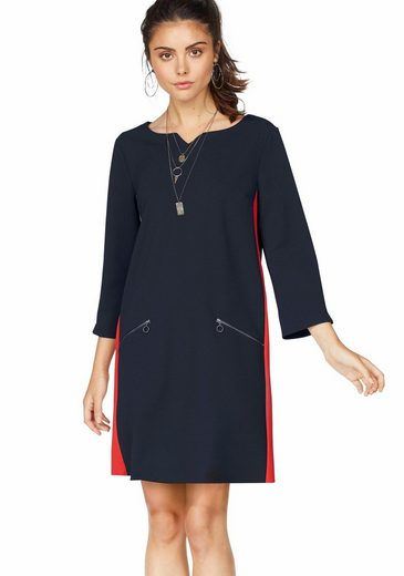 S.oliver Red Label Blouses Dress With Contrasting Inserts