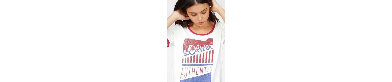s.Oliver RED LABEL T-Shirt, mit großem Logoprint auf der Brust