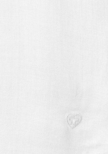 Tom Tailor Rüschenbluse, mit elegantem V-Ausschnitt und Rüschenverzierungen