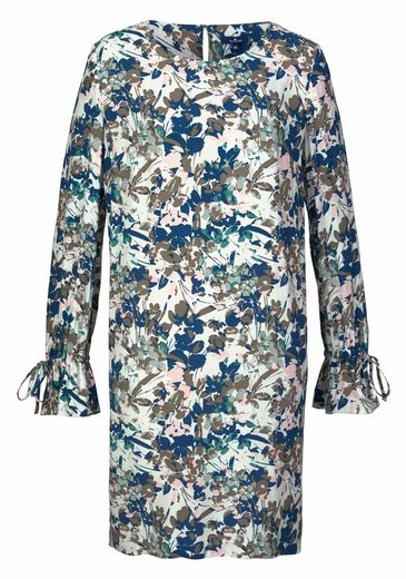 Tom Tailor Blusenkleid, im elegantem Blumenmuster