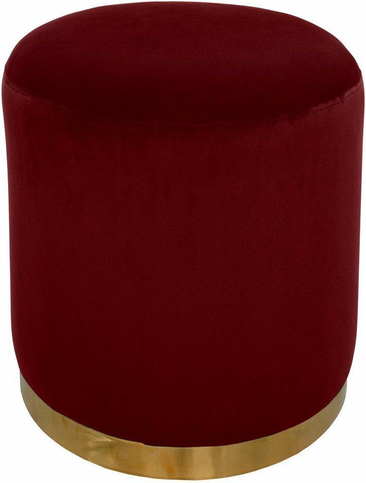 Hocker PAUL von HOME AFFAIRE 2 Größen, Rot