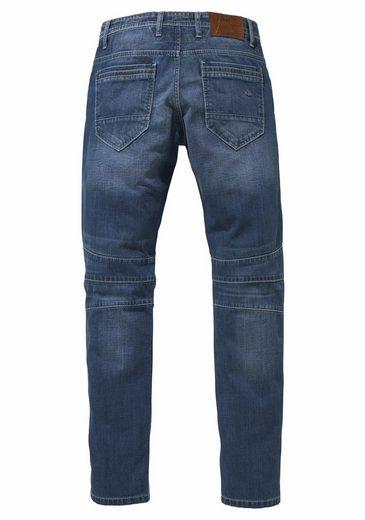 Cipo & Baxx Loose-fit-Jeans Button, Teilungsnähte am Knie