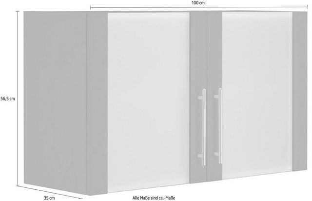 Küchenschränke - wiho Küchen Glashängeschrank »Cali« Front mit Glaseinsatz  - Onlineshop OTTO