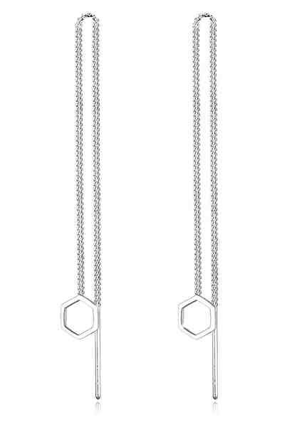 Elli Ohrringe »Hexagon Geo Minimal 925 Sterling Silber«