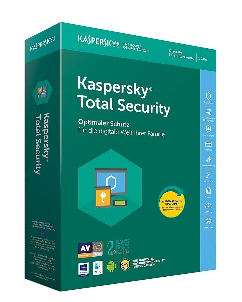 Kaspersky Software »Kaspersky Total Security (Code in a Box)«
