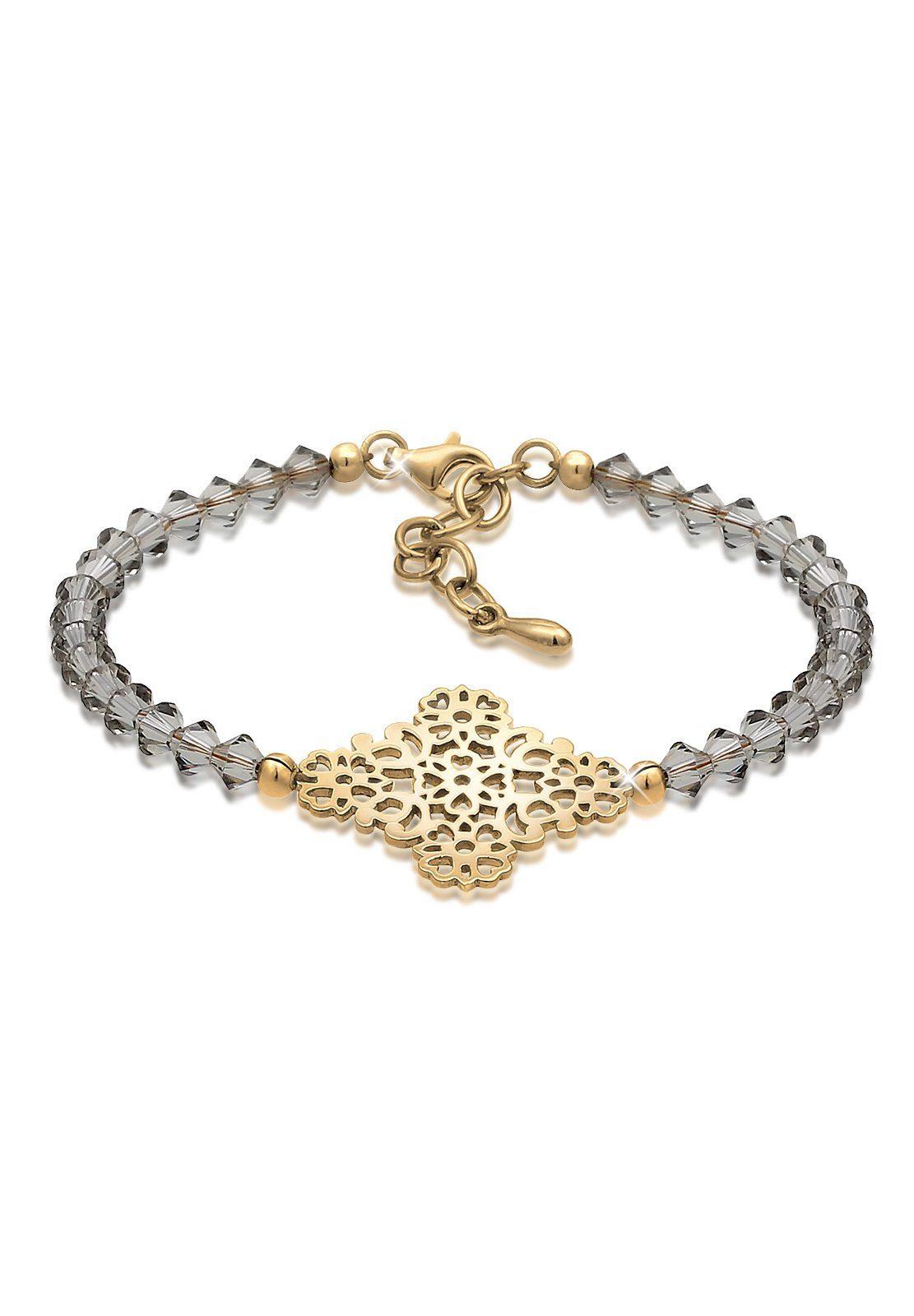 Elli Armband »Ornament Bead Swarovski® Kristalle 925 Silber«