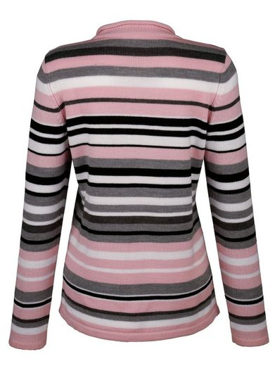 Paola Sweater On V-neck With Rolling Edge