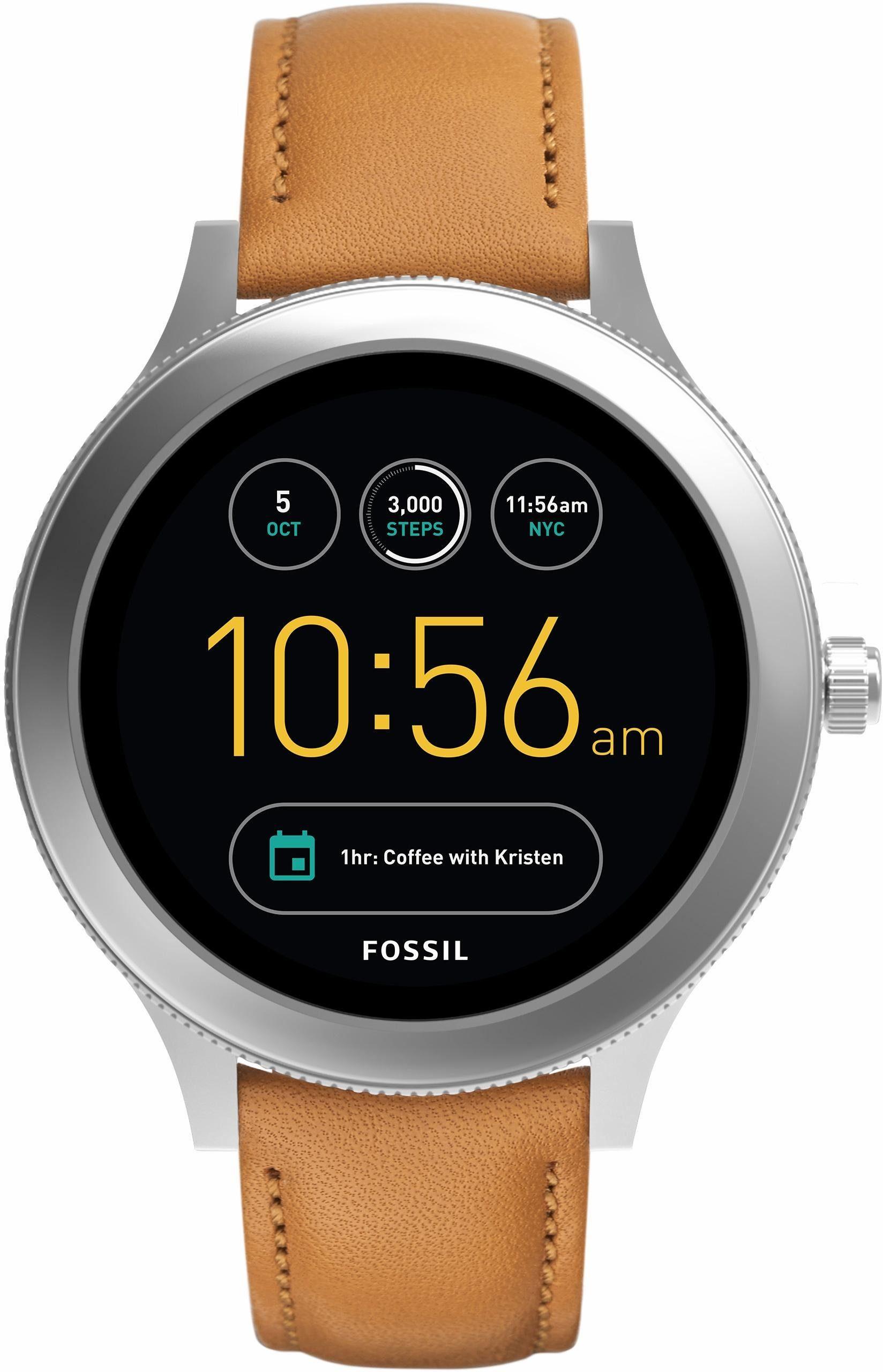 FOSSIL Q Q VENTURE, FTW6007 Smartwatch (Android Wear, mit individuell einstellbarem Zifferblatt)