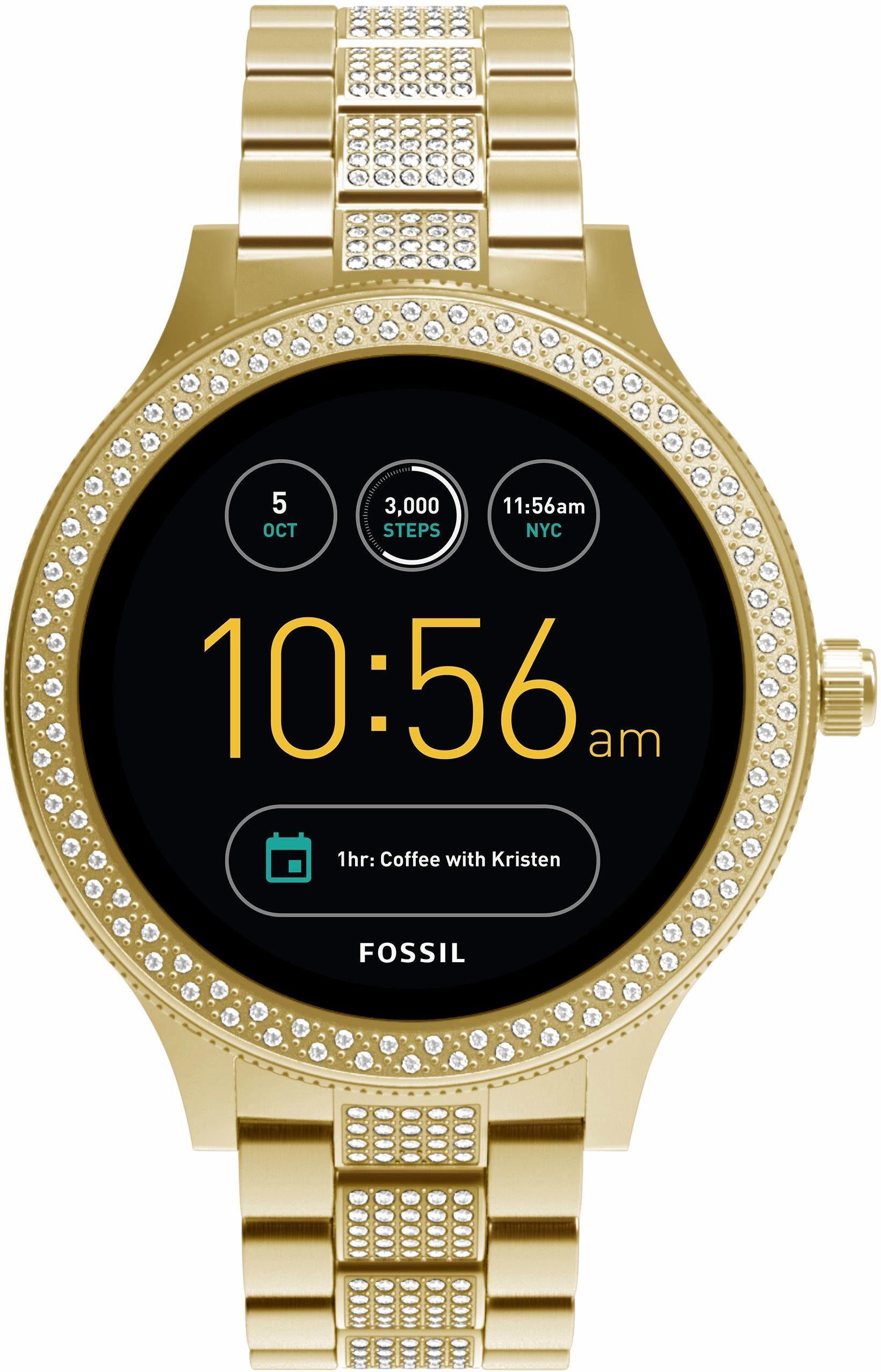 FOSSIL Q Q VENTURE, FTW6001 Smartwatch (Android Wear, mit individuell einstellbarem Zifferblatt)