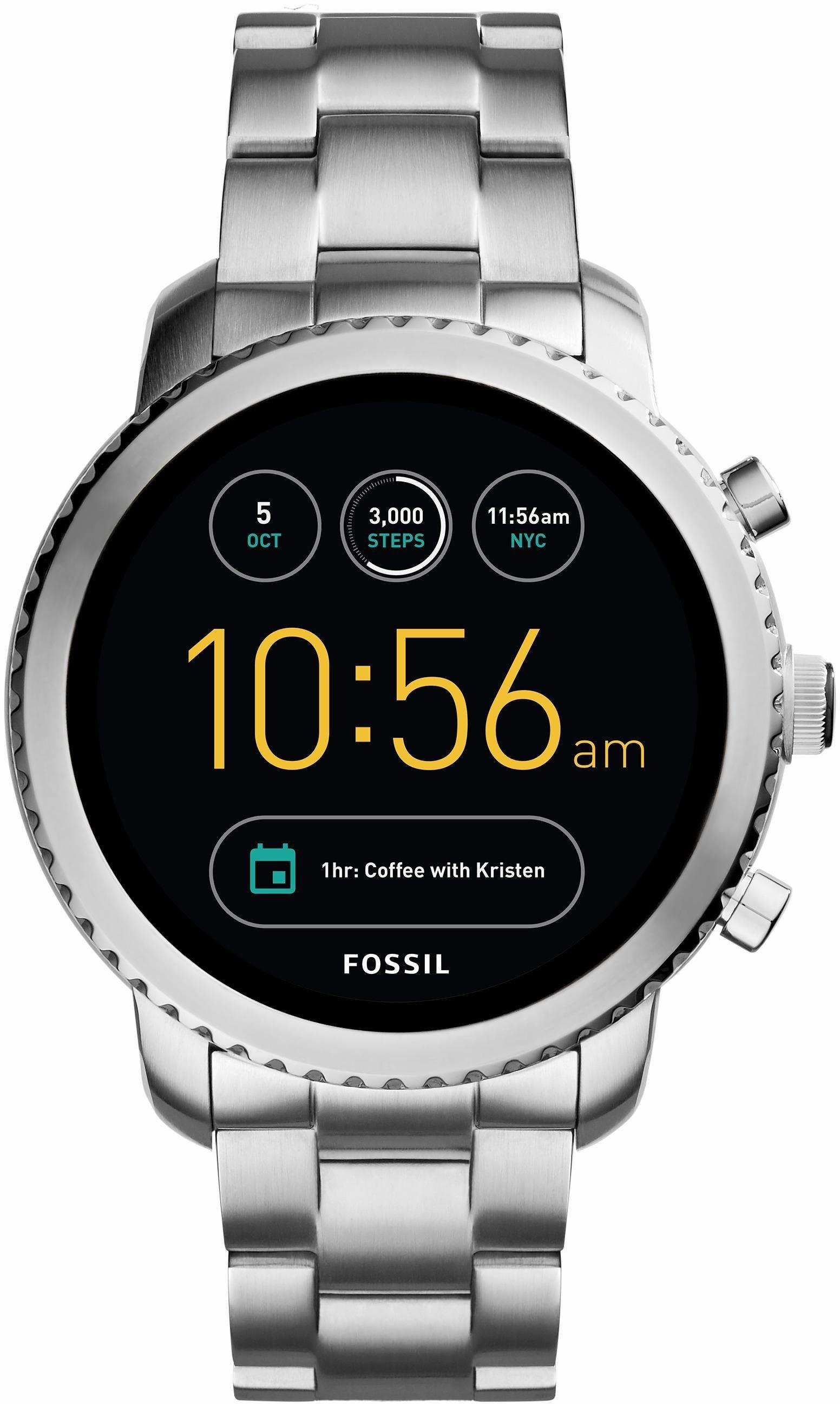 FOSSIL Q Q EXPLORIST, FTW4000 Smartwatch (Android Wear, mit individuell einstellbarem Zifferblatt)