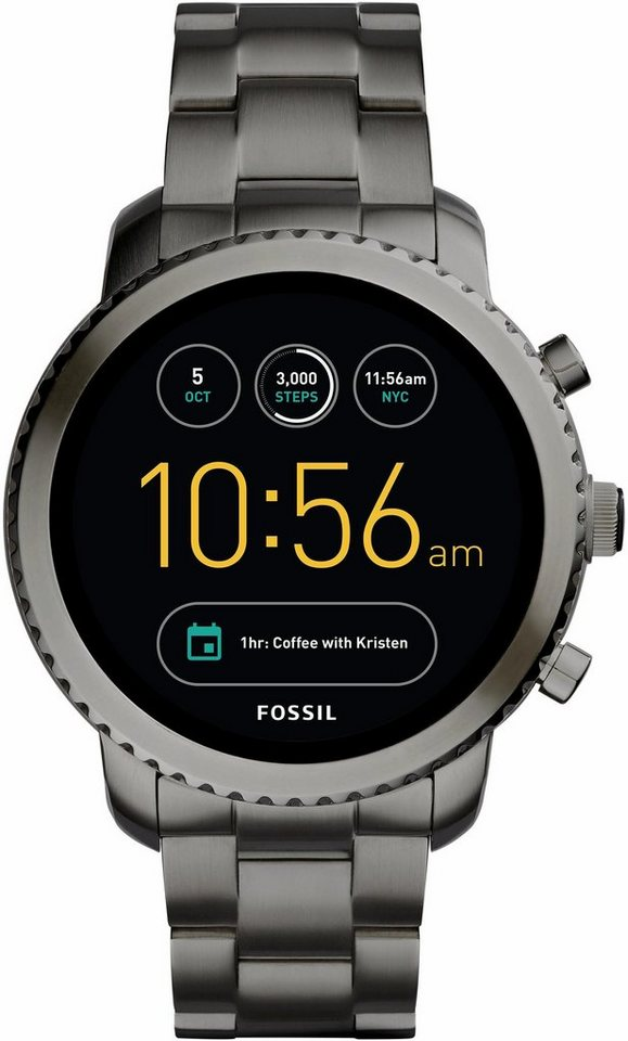 fossil q q explorist ftw4001 smartwatch android wear mit individuell einstellbarem. Black Bedroom Furniture Sets. Home Design Ideas