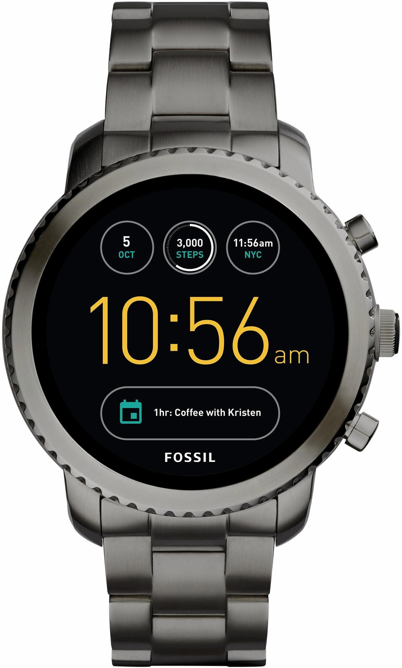 FOSSIL Q Q EXPLORIST, FTW4001 Smartwatch (Android Wear, mit individuell einstellbarem Zifferblatt)