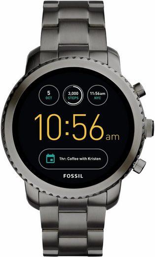 fossil q q explorist ftw4001 smartwatch android wear mit individuell einstellbarem. Black Bedroom Furniture Sets. Home Design Ideas