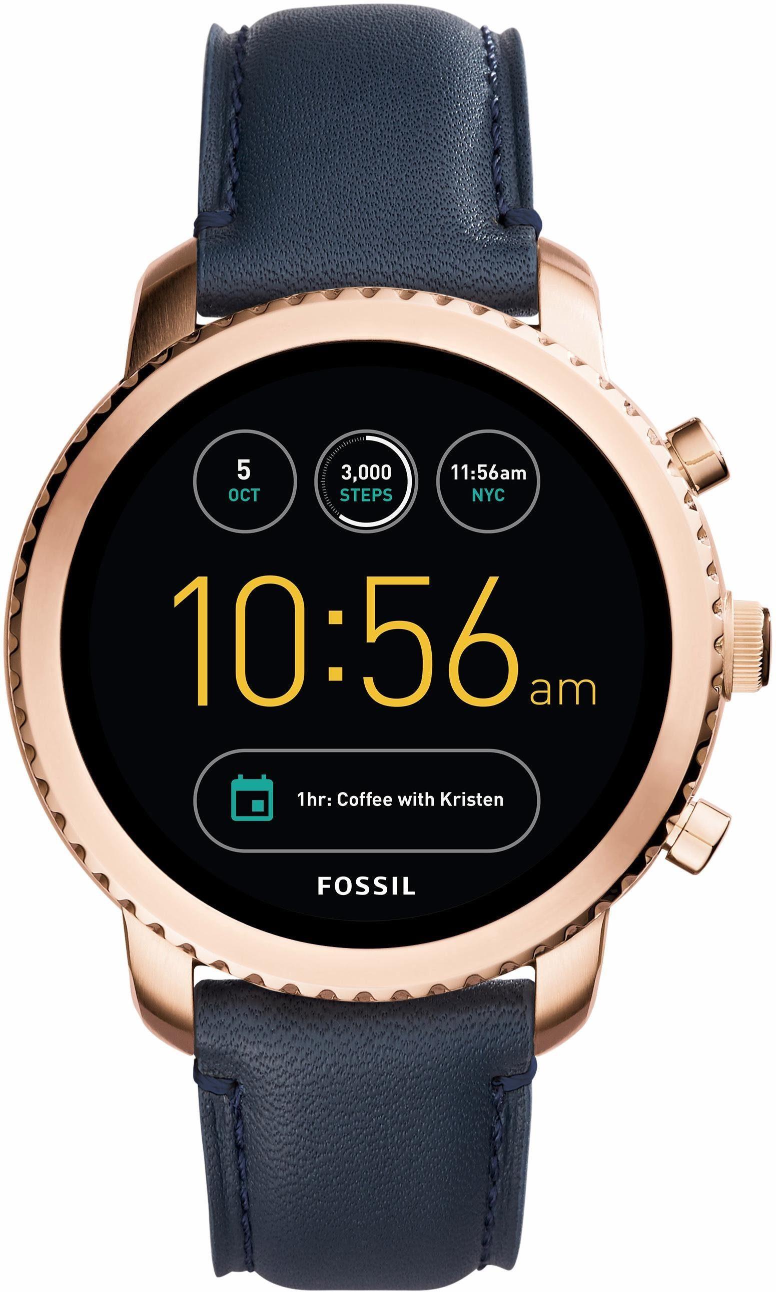 FOSSIL Q Q EXPLORIST, FTW4002 Smartwatch (Android Wear, mit individuell einstellbarem Zifferblatt)