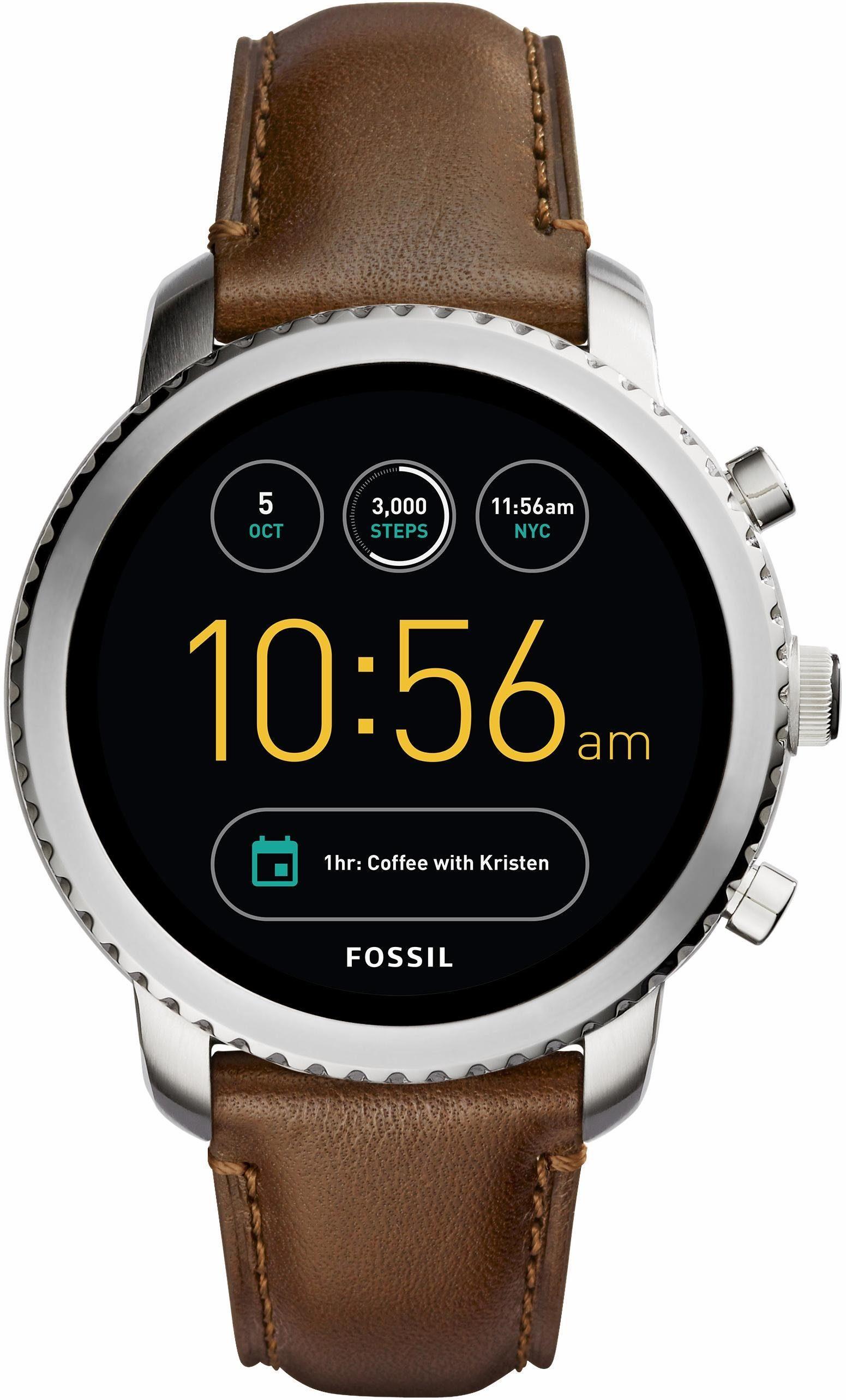 FOSSIL Q Q EXPLORIST, FTW4003 Smartwatch (Android Wear, mit individuell einstellbarem Zifferblatt)