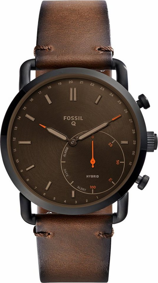 fossil q q commuter ftw1149 smartwatch android wear online kaufen otto. Black Bedroom Furniture Sets. Home Design Ideas