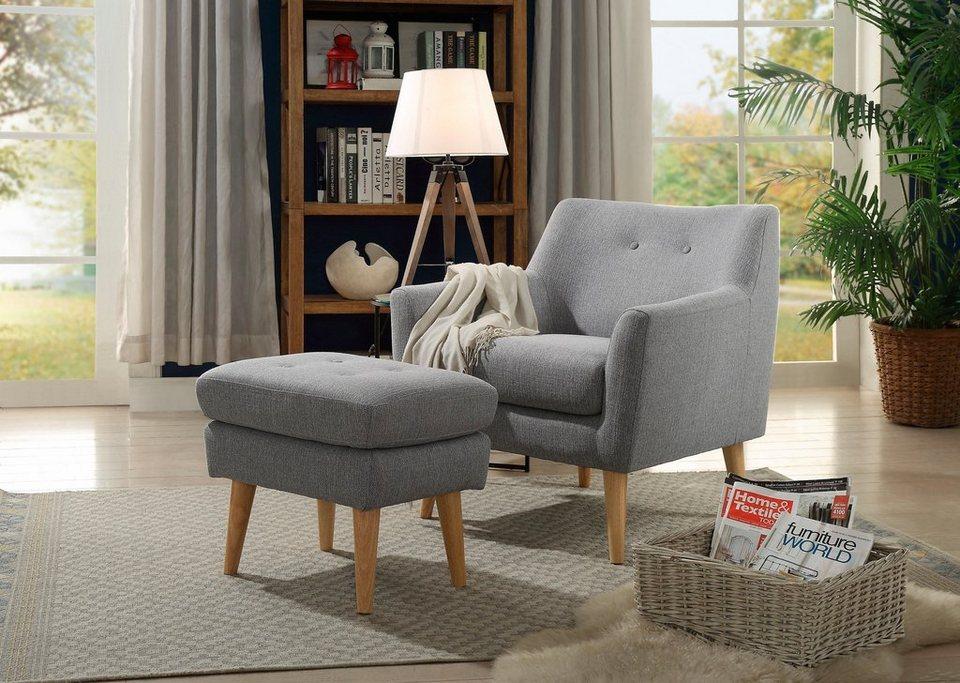 home affaire sessel mirko mit knopfheftung im r cken. Black Bedroom Furniture Sets. Home Design Ideas